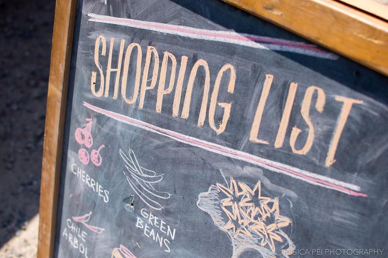 Chalk Shopping List