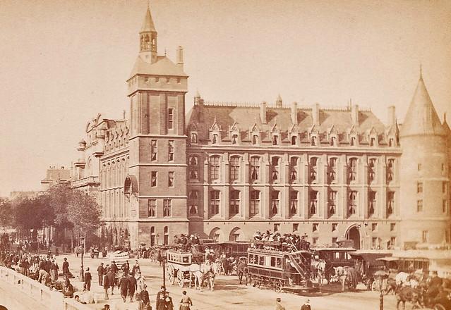 Le Pont au Change en 1890.