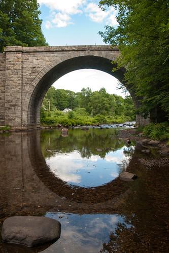 bridge stone landmark historic keene 1847