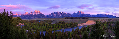 morning light panorama mountains west tree nature beauty pine forest sunrise river landscape dawn nationalpark glow bend outdoor snakeriver wyoming grandtetons wilderness teton tetons grandteton americanwest alpenglow riverscape forestscape chaddutson