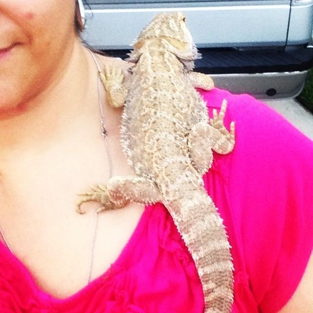 Lizzie likes me!! LOL