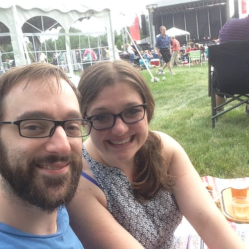At Morton Arboretum Watching Chicago Symphony Orchestra