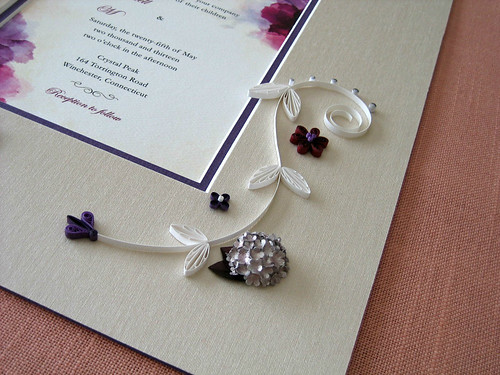 Quilled wedding invitation by Ann Martin