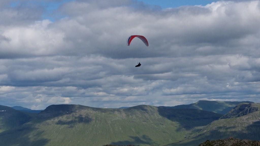 Paragliding off Stob Ghabhar