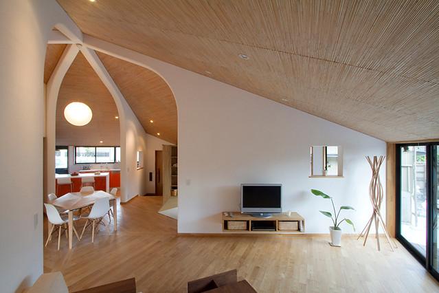 Nội thất Phòng khách với đường chéo tạo nên nét độc đáo