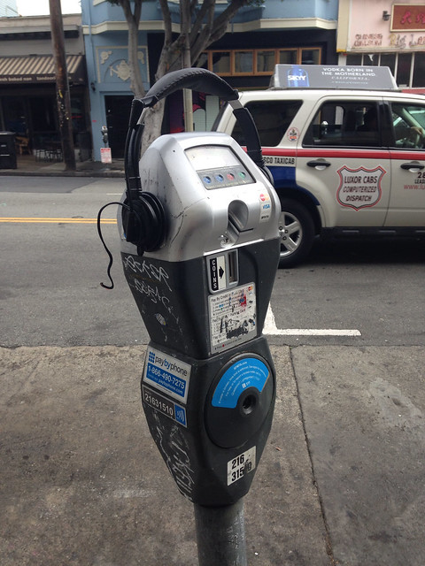 Hip parking meter's cousin likes music
