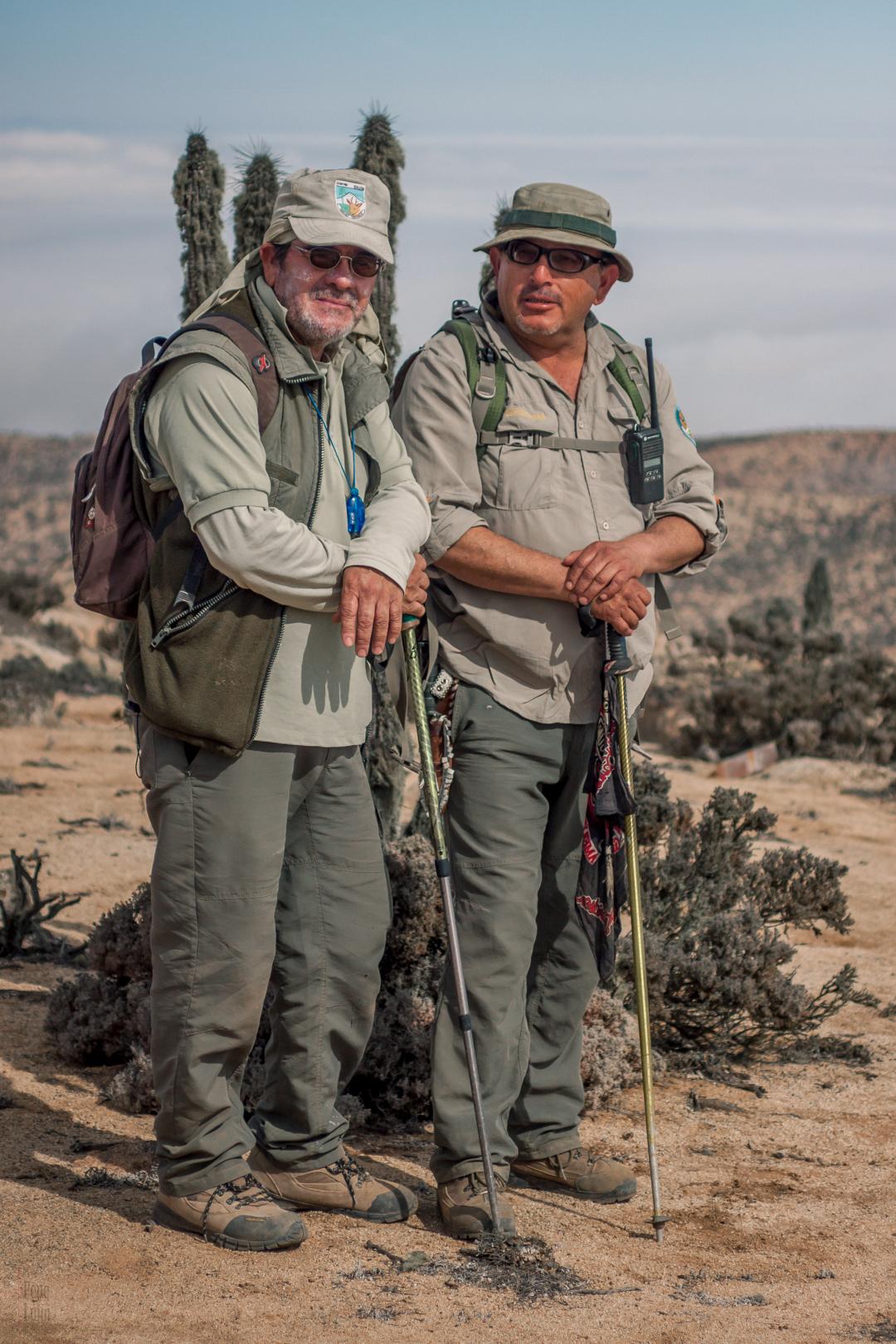 Domingo y Felipe Guardaparques Parque Nacional Pan de Azúcar