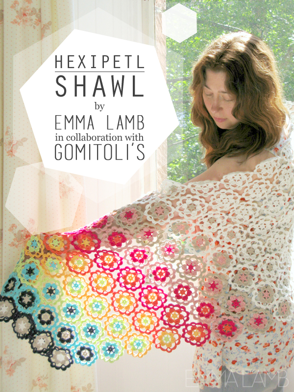 Hexipetl Shawl : Exclusive kit design by Emma Lamb for the Italian yarn company Gomitoli's | Emma Lamb