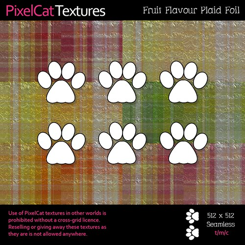 PixelCat Textures - Fruit Flavour Plaid Foil
