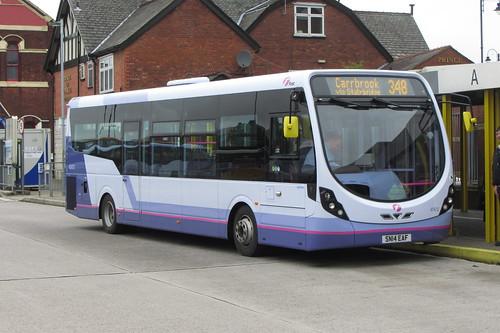 First Greater Manchester, Wright StreetLite, SN14 EAF Ashton-under-Lyne bus station