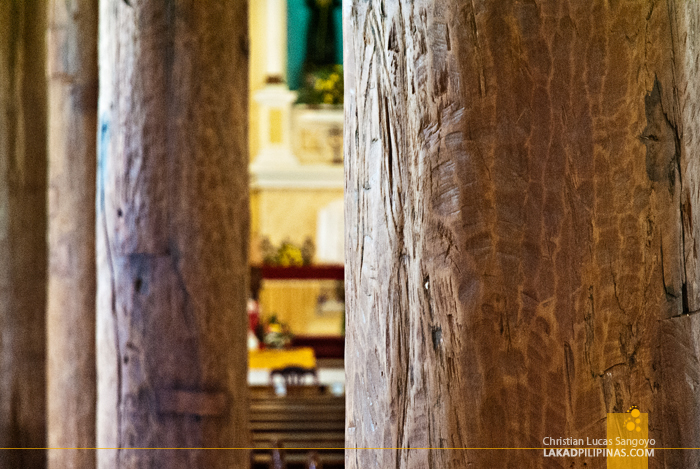Sta. Monica Church Timber Pillars in Alburquerque, Bohol