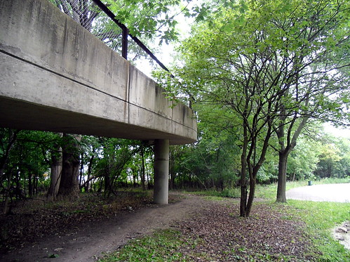 bike trail overpass at Oakton