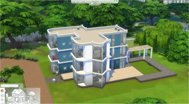 The sims 4 preview and gameplay overview one angry gamer for Minimalist house the sims 4