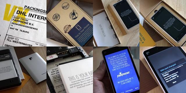Unboxing Fairphone (mosaic)
