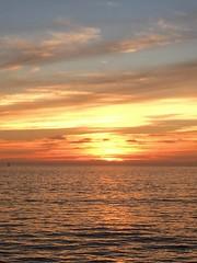 Sunset at sea 1