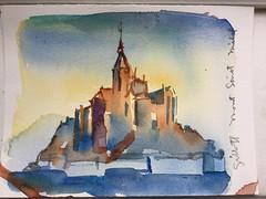 Mont saint michel, watercolor