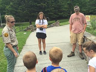 """Fun"" at Grayson Highlands State Park Jr Ranger program"