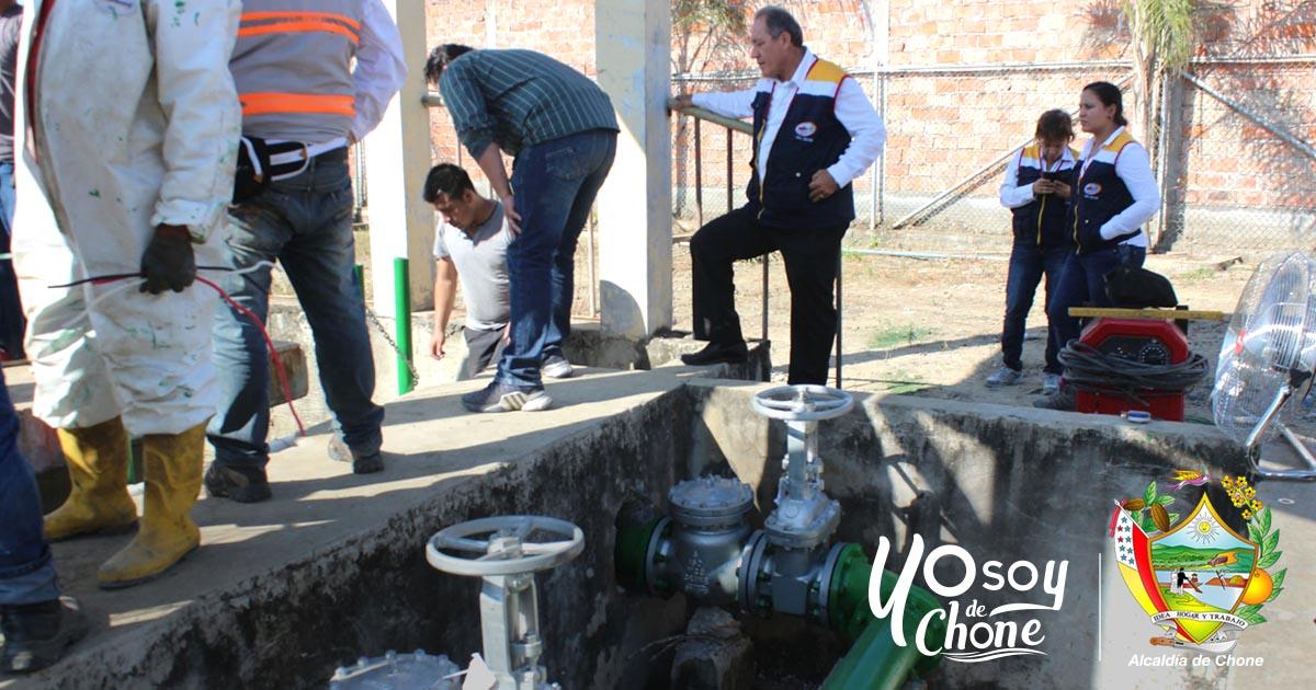 Estaciones de bombeo para aguas servidas operativas en Chone