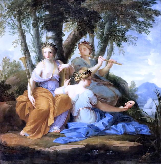 IMG_6467DB Eustache Lesueur 1626-1656 Paris Clio, Euterpe et Thalie 1655 Louvre.
