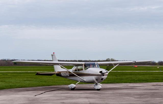 N8604U at Grimes Field, Urbana, Ohio