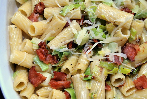 Pasta with Bacon and Leeks-001