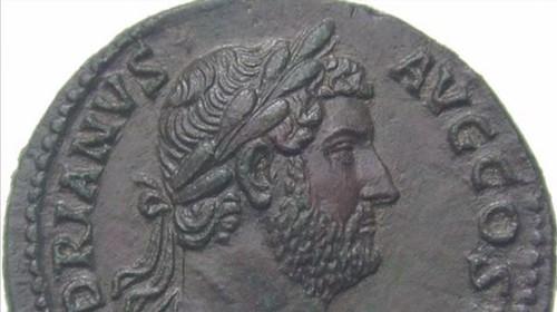 Hadrian coin closeup