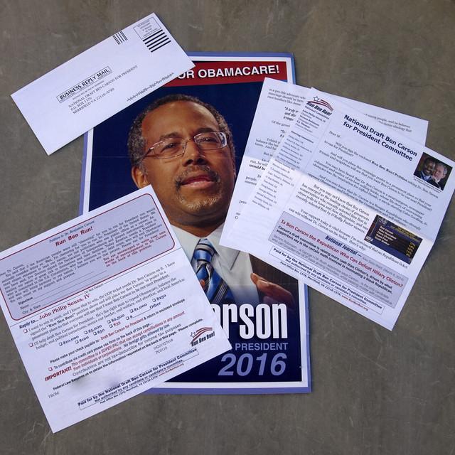 Ben Carson junk mail