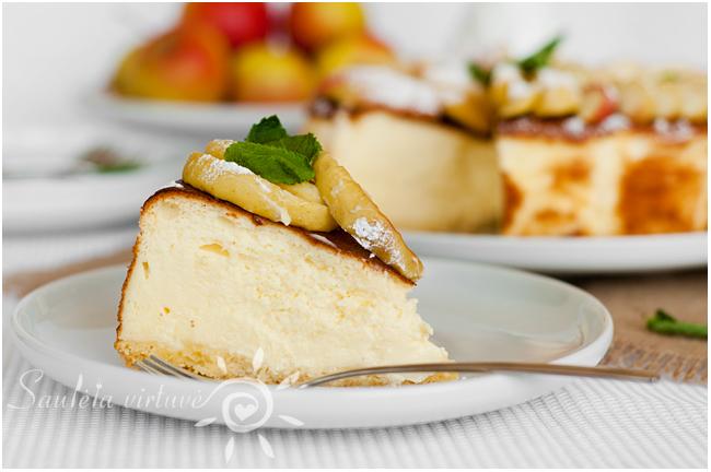 Sūrio pyragas su obuoliais (6)