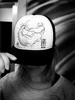 Mermaid trucker Cap