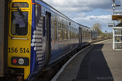 156514 departing Kilmarnock working 1L54 Carlisle to Glasgow Central 14/04/14...