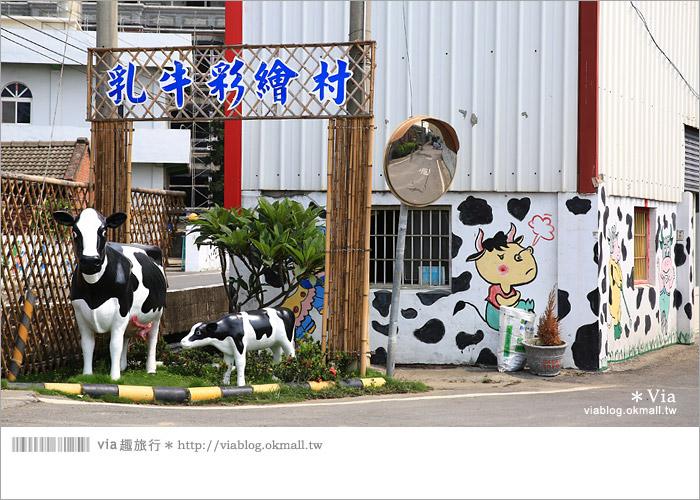 【彰化景點推薦】乳牛彩繪村(福寶村)~數百頭彩色小牛+夢幻藍晒圖的彩色村5