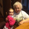 Abby and Great-Grandma Chartrand