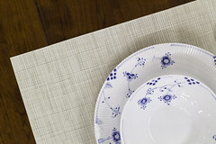 tablecloth(0.0), lavender(0.0), art(1.0), dishware(1.0), blue and white porcelain(1.0), tableware(1.0), saucer(1.0), ceramic(1.0), circle(1.0), blue(1.0), porcelain(1.0),