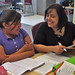 Mara Herrera teaches a young student at San Felipe Pueblo Elementary School.