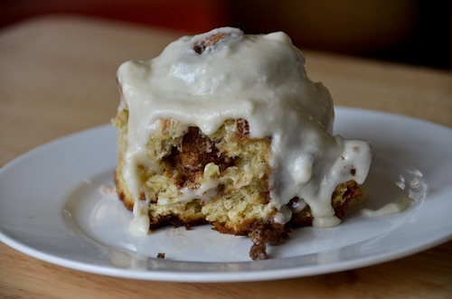 Banana Cinnamon Rolls with Maple Icing