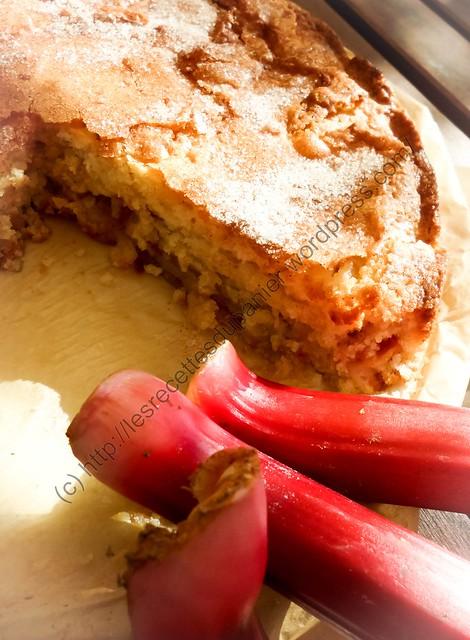 Gâteau à la rhubarbe / Rhubarb Cake