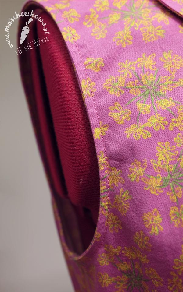 marchewkowa, blog, szycie, krawiectwo, maszyna SilverCrest, bawełna, kwiaty kopru ogrodowego, szmizjerka, sukienka, 50s, 60s, Burda Moden 5/1967, 6510, bawełna, cottonbee.pl