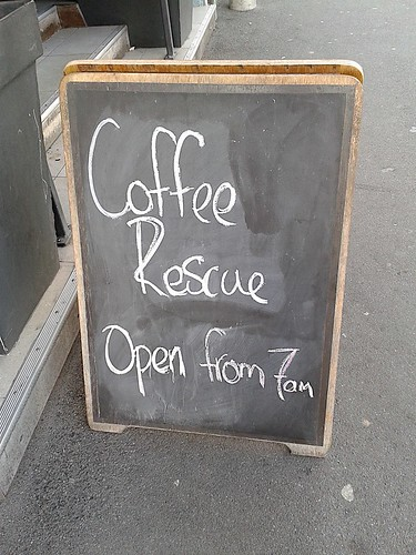 Coffee rescue sign