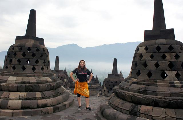 Suanie at Borobudur Temple, Yogyakarta