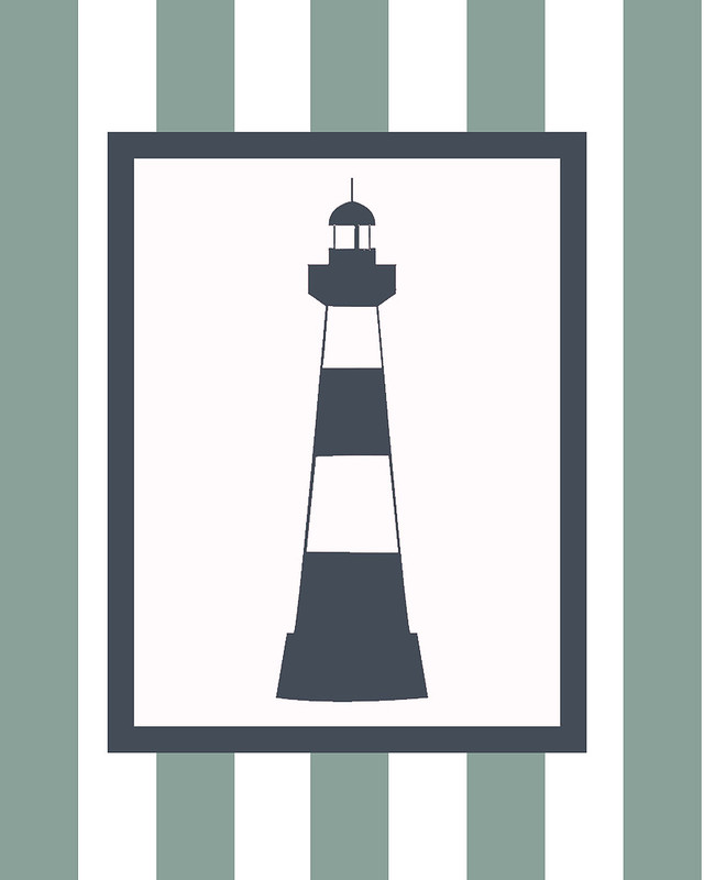 lighthouse, nursery art, wall art