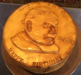 Eric Newman 103rd birthday  cake