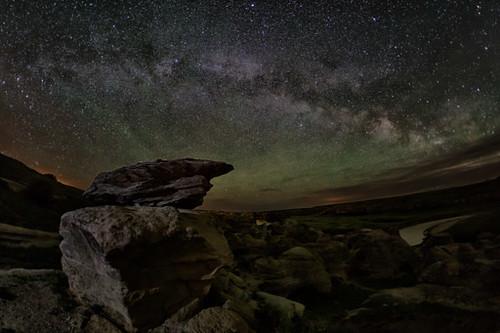 Sentinel hoodoo beneath the Milky Way