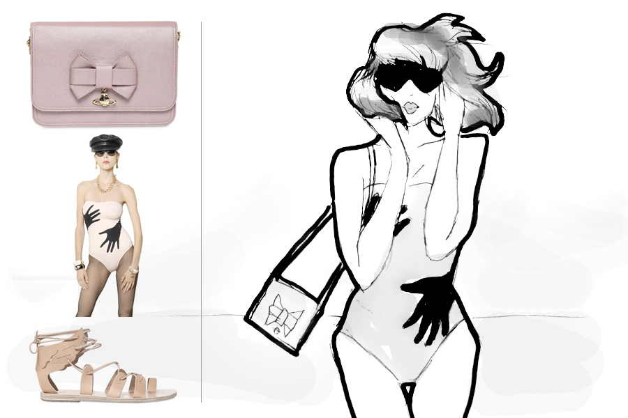 LUISAVIAROMA summer beach essentials LVR Luisa Firenze Italy Luxury designer illustration drawing CATS & DOGS fashion blog Berlin Ricarda Schernus 3