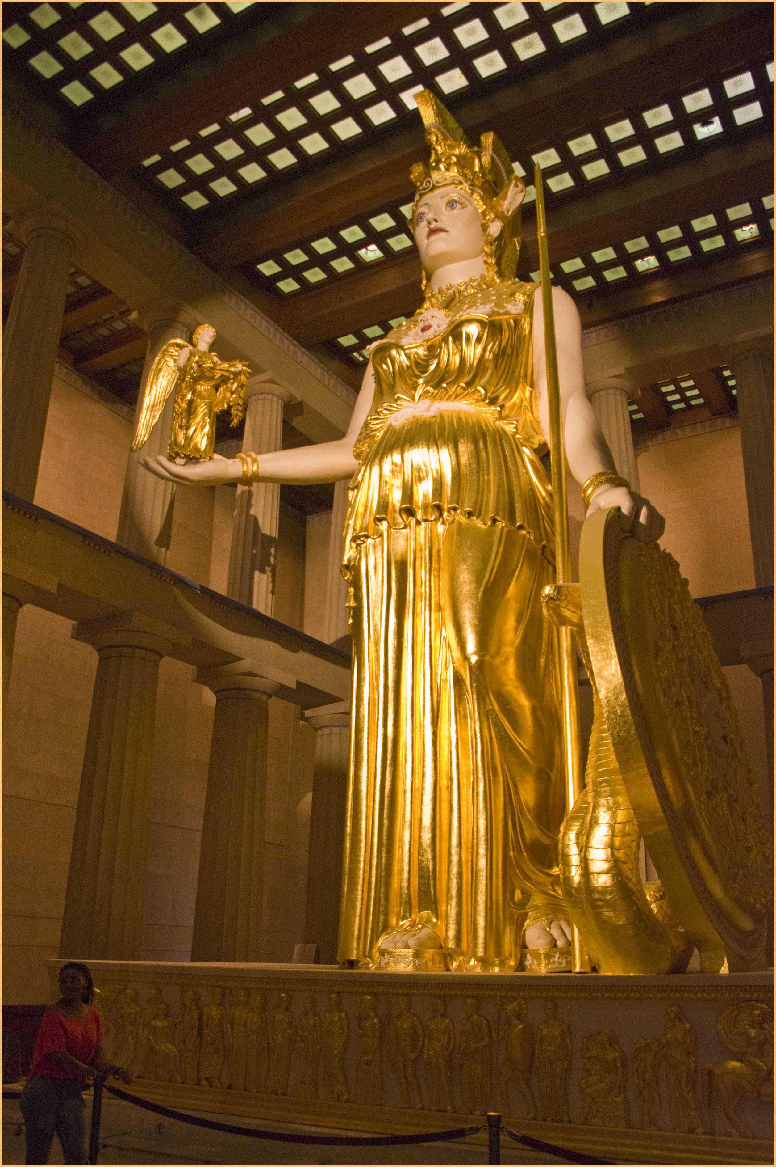 The Goddess Athena -- The Parthenon Centennial Park ...