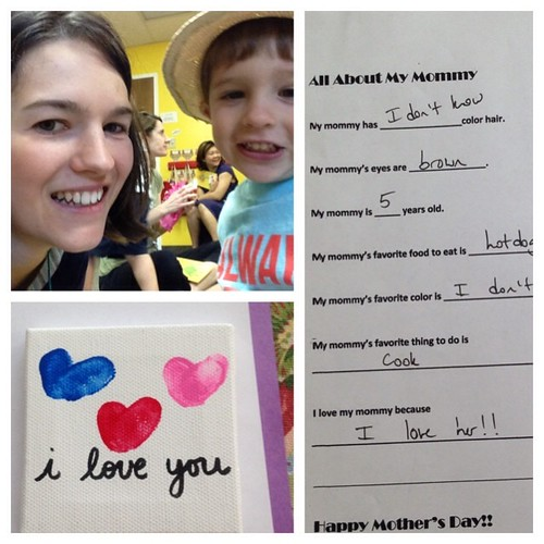Muffins with mom at preschool today!  So much fun.  #yesiamfiveyearsold