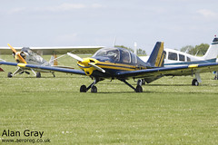 G-AZCP BEAGLE B.121 PUP 1 B158 PRIVATE -Sywell-20130601-Alan Gray-IMG_9205