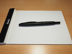 Pilot Capless Fountain Pen Matt Black - Retracted