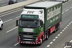 Volvo FH 6x2 Tractor - PX60 CNY - Isabella Rose - Eddie Stobart - M1 J10 Luton - Steven Gray - IMG_8962