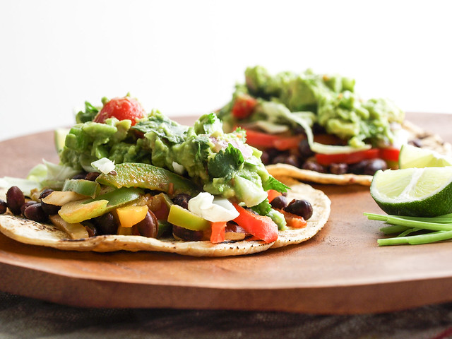 ... your tacos and serve you & yours some hearty black bean fajita tacos