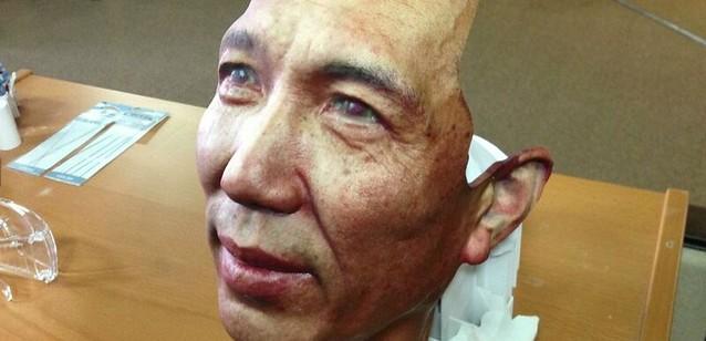 Надрукована на 3D-принтері маска.